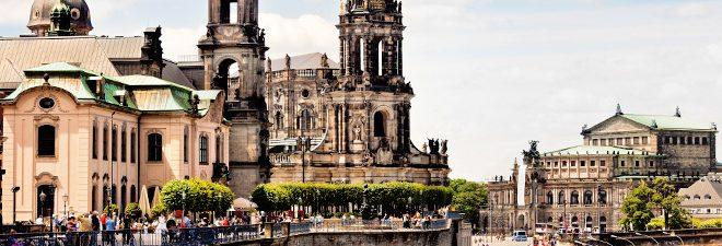 Singles in Dresden: Panoramabild Dresden von oben