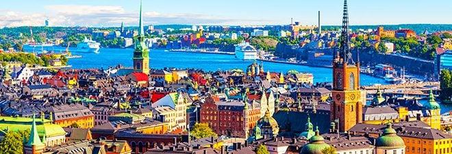 Singles in Stockholm: Panoramabild Stockholm von oben