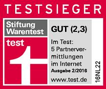 Kontaktbörse Parship - Testsiegel Stiftung Warentest 2016